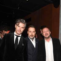 Eric Rutherford, David Furnish and Matthew Freud