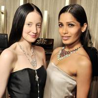 Andrea Riseborough and Freida Pinto