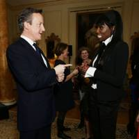 David Cameron and Lorraine Pascale