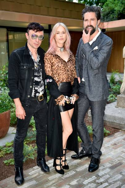Robbie Furze, Mary Charteris and Jack Guinness