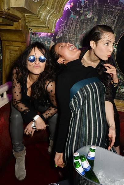 Michelle Rodriguez, Goga Ashkenazi and Noomi Rapace
