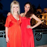 Jo Wood and Lilly Becker in Monte Carlo