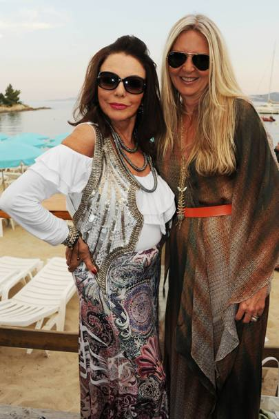 Amanda Wakeley and Joan Collins