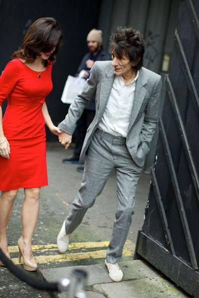 Sally Humphreys and Ronnie Wood