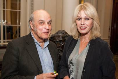 Chris Beetles and Joanna Lumley