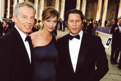 Tony Blair, Uma Thurman and Arpad Busson