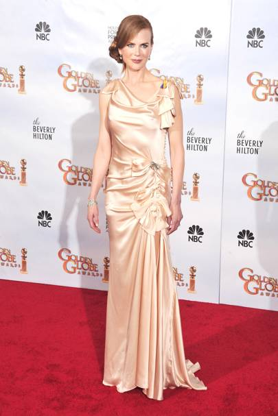 Wearing Nina Ricci at the Golden Globes, 2009