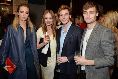 Suki Waterhouse, Laura Haddock, Sam Claflin and Douglas Booth
