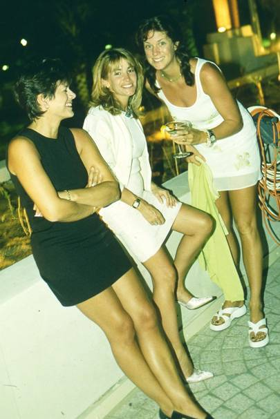 Mrs Hubie de Burgh, Mrs Nick Cowan and Mrs Rod Stewart