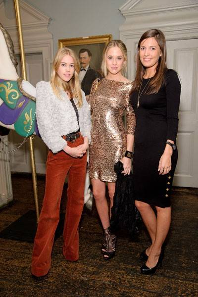 Mary Charteris, Florence Brudenell-Bruce and Amanda Sheppard