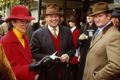 Nicky Henderson, Lady Avena Maxwell and John Edwards