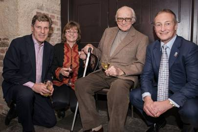 Brough Scott, Petra Ingram, Sir Peter O'Sullevan and Richard Dunwoody