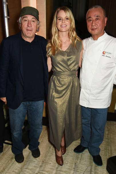 Robert De Niro, Alice Eve and Nobu Matsuhisa