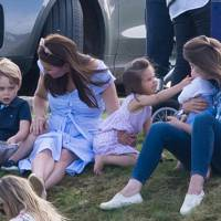 Prince George, the Duchess of Cambridge and Princess Charlotte