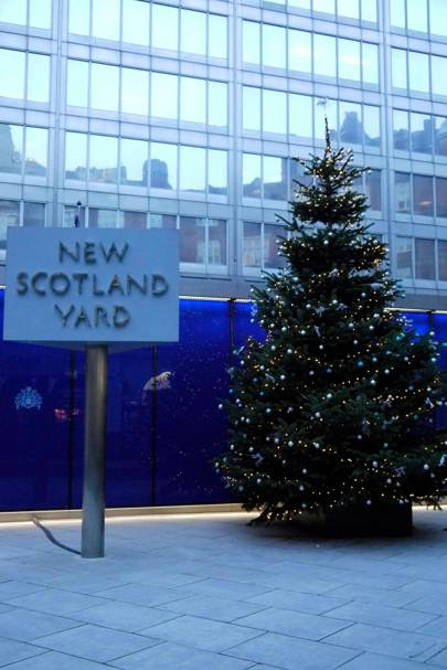 The New Scotland Yard Christmas tree