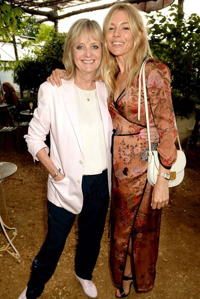 Twiggy and Sienna Miller