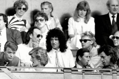 Diana, Princess of Wales having a fan-girl moment at Live Aid