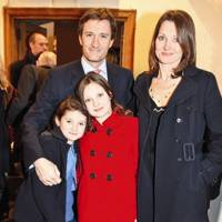 Ollie Fox, Hattie Lane Fox, Georgina Fox and Esme Fox