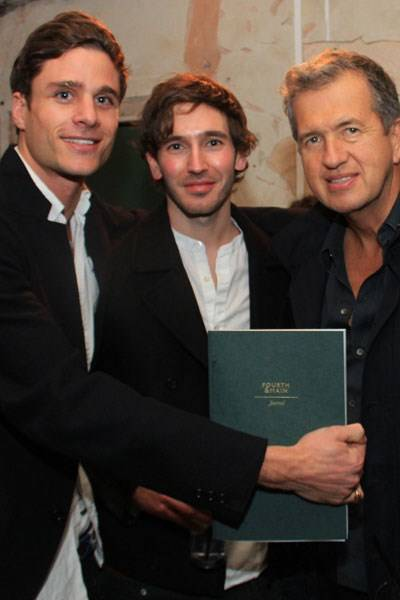 Eddie Wrey, James Wright and Mario Testino