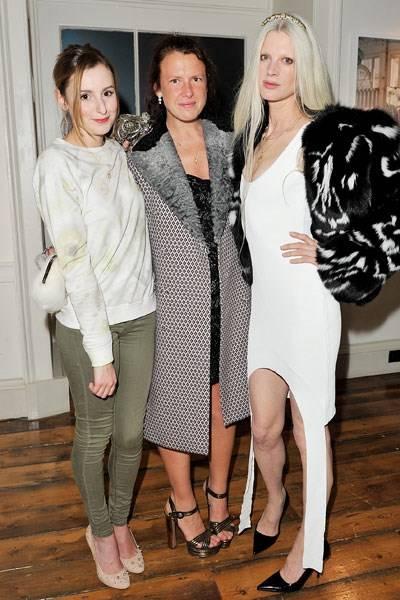 Laura Carmichael, Katie Grand and Kristen McMenamy