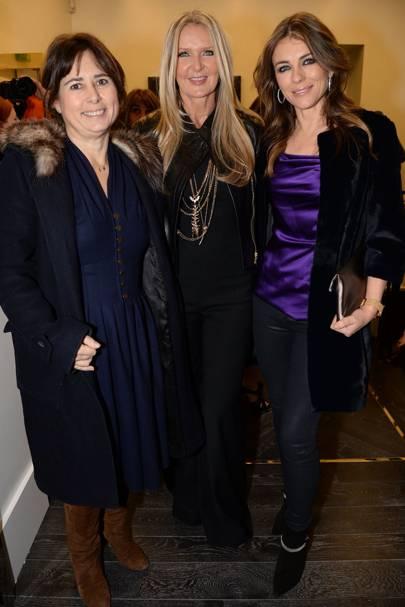 Alexandra Shulman, Amanda Wakeley and Elizabeth Hurley