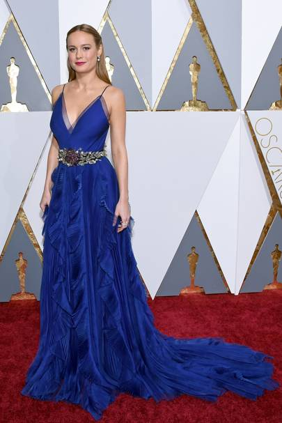 Brie Larson wearing Gucci in 2016