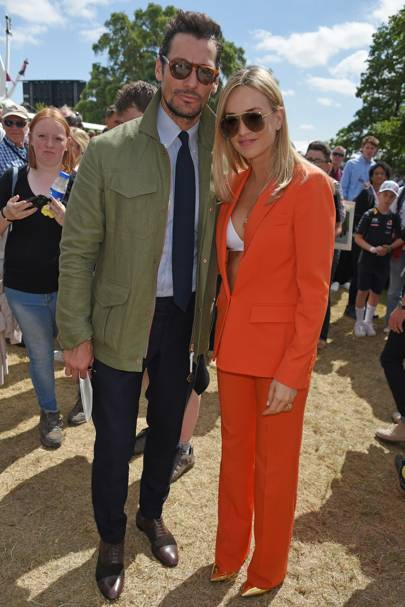 David Gandy and Carmen Jorda