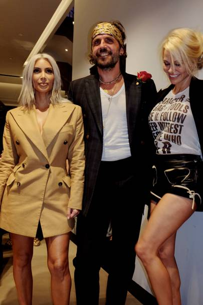 Kim Kardashian West, Andreas Kronthaler and Pamela Anderson