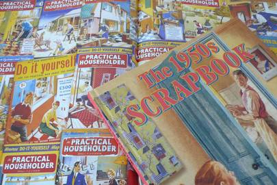 Vintage scrapbooks from the Museum of Brands