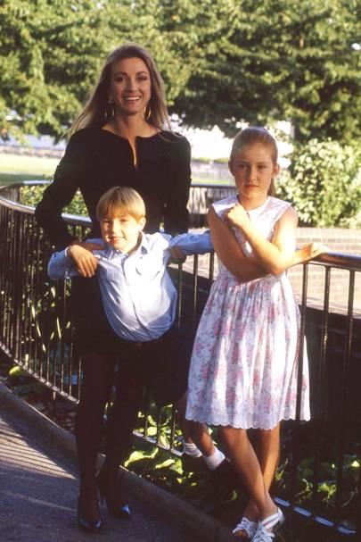Jane Seymour, Sean Flynn and Katie Flynn