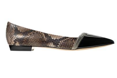 Patent & python shoes, £630, by Giorgio Armani