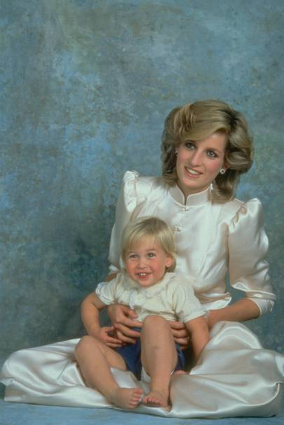 Diana, Princess of Wales and Prince William, 1984
