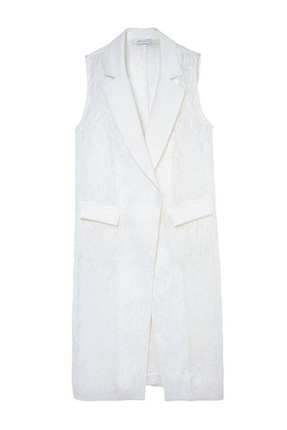 Raffia & organza coat, £520, by Milly