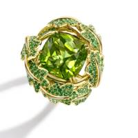 Peridot and gold ring, POA, Asprey