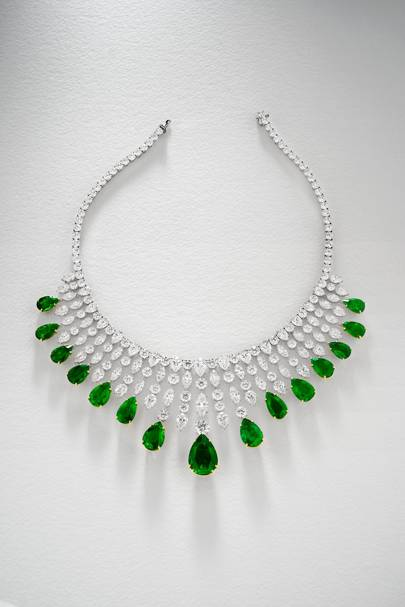 Emerald and diamond necklace, POA, Chatila