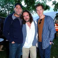 Mark Strong, Jamie Byng and Benedict Cumberbatch