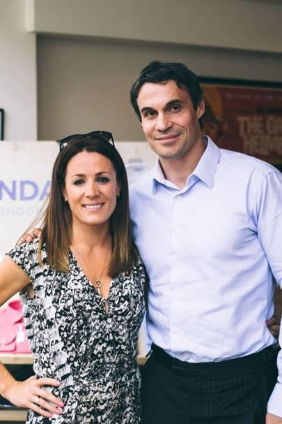 Natalie Pinkham and Adam Bidwell