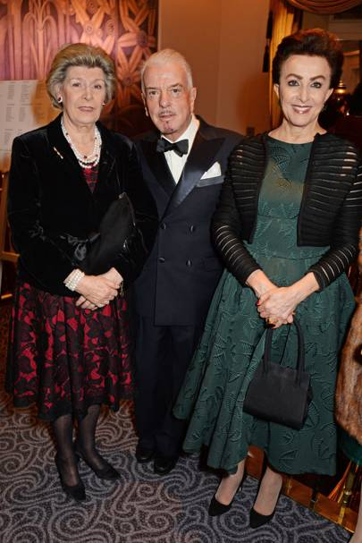 Dowager Duchess of Marlborough, Nicky Haslam and Mercedes Bass