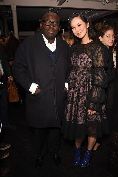 Edward Enninful and Betty Bachz