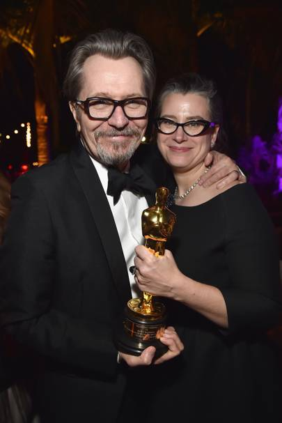 Gary Oldman and Gisele Schmidt