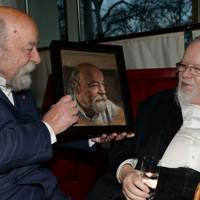 Roy Ackerman and Sir Peter Blake