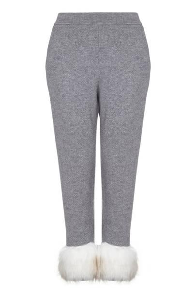 Izaak Azanei faux-fur trim pants