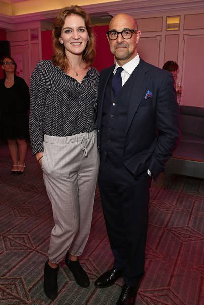 Felicity Blunt and Stanley Tucci