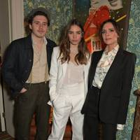 Brooklyn Beckham, Hana Cross and Victoria Beckham