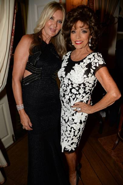 Amanda Wakeley and Dame Joan Collins
