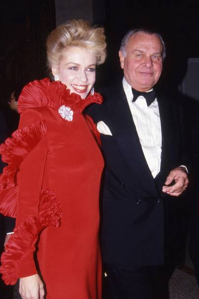 Lynn Wyatt and Bill Blass