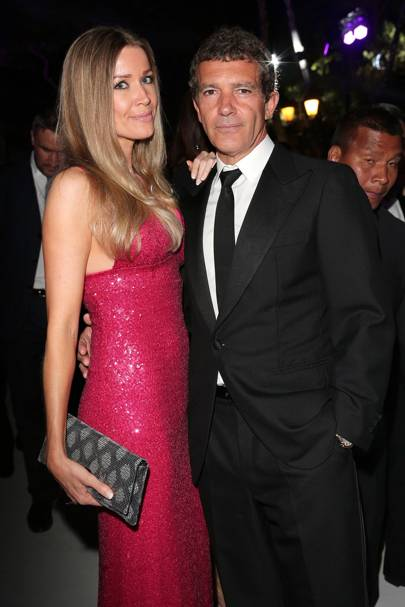 Nicole Kempel and Antonio Banderas