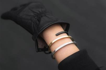 Minimalistic leather bags and jewellery