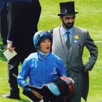 Frankie Dettori and Sheikh Mohammed Bin Rashid Al Maktoum
