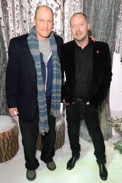 Woody Harrelson and Matthew Freud